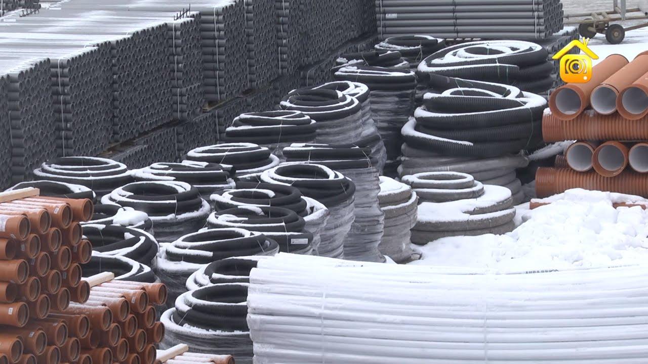 Техническое описание, нормативная документация, прайс-лист, фотографии дренажных полиэтиленовых труб d63-630мм производства группы полипластик. Различные варианты дренажных систем. Прокладка и монтаж дренажных труб в грунте.