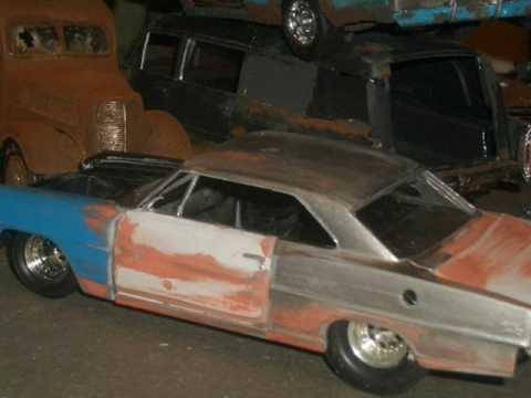 model car junkyard