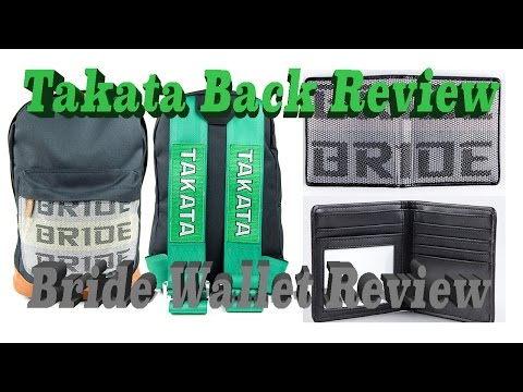 Takata Backpack Review / Bride Wallet Review