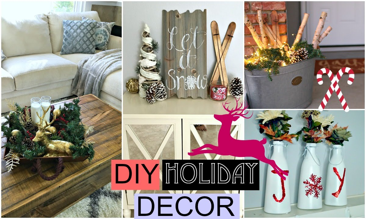 Diy holiday room decor diy christmas youtube for Room decor for christmas