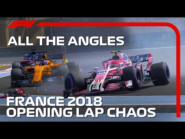 Opening Lap Chaos At Paul Ricard   All The Angles   2018 French Grand Prix
