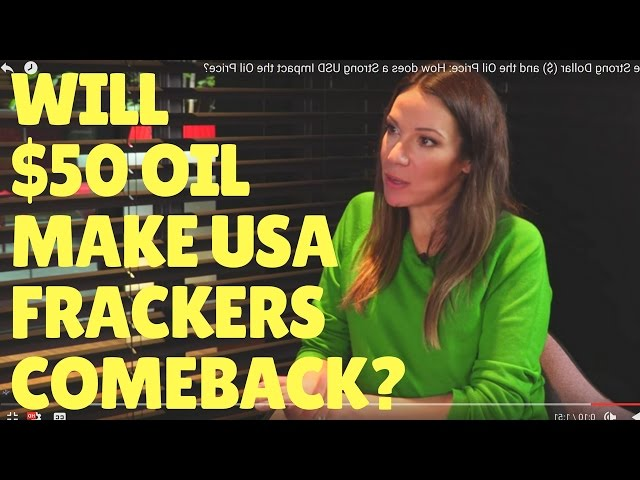 Will $50 Oil make USA Frackers turn On the Tap? Can Shale Drilling make money at $50 per barrel?
