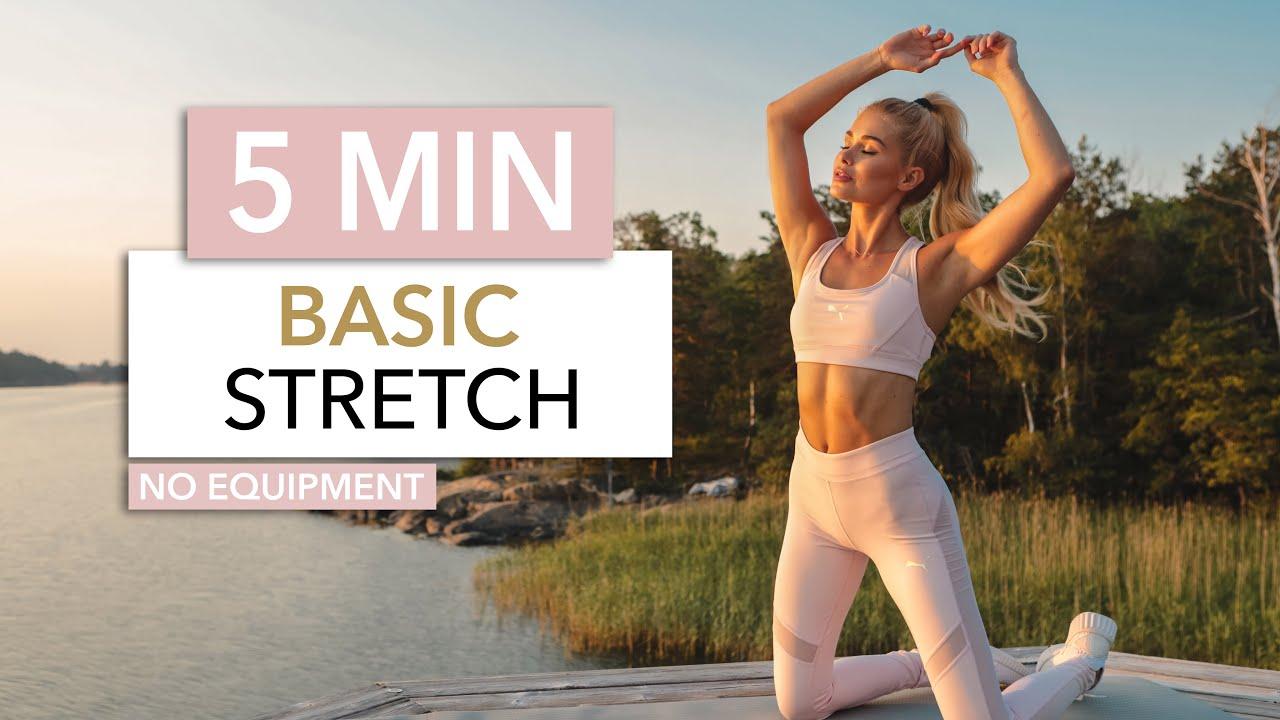 5 MIN BASIC STRETCH - short & sweet for every day / Classic Exercises I Pamela Reif