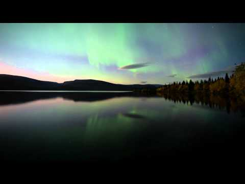 Aurora Northern Lights in Murmansk, Russia (HD, timelapse, 2