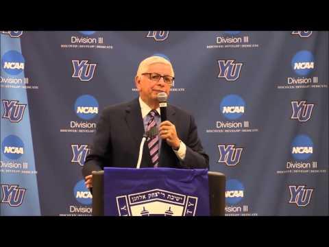 Former NBA commissioner David Stern speaks at YU