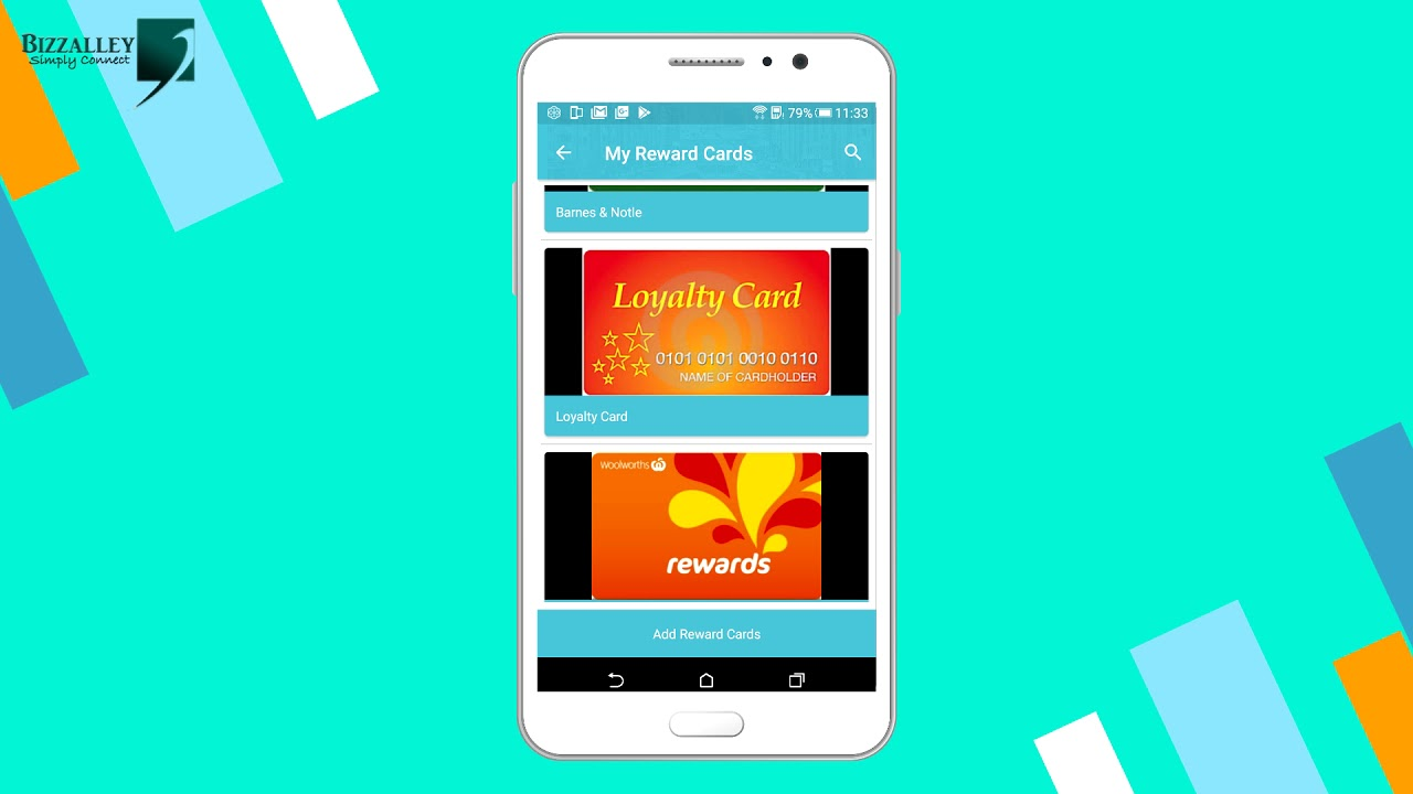 STORING UNLIMITED LOYALTY OR REWARD CARDS WITH BIZZALLEY APP  DOWNLOAD  LINKS IN DESCRIPTION
