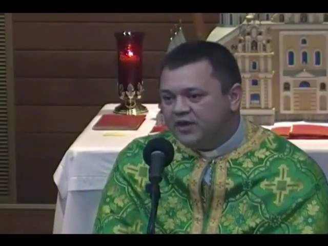Sermon by Father Volodymyr Kostyuk of St. Michael the ArchAngel Ukrainian Catholic Church in Jenkintown PA USA