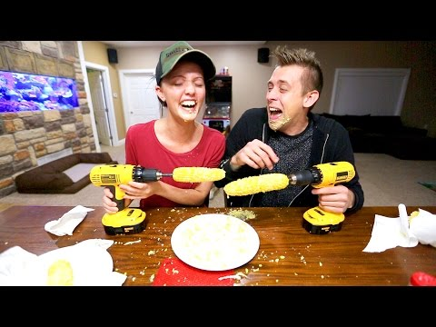 Thumbnail: CRAZY CORN ON A DRILL CHALLENGE!!