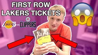 I got FIRST ROW Lakers Tickets! **NOT CLICKBAIT**