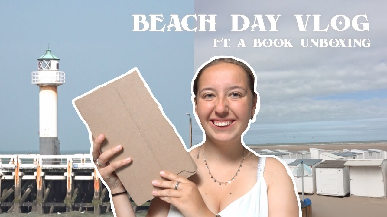Download VLOG: beach day and book unboxing // a couple of days in my life