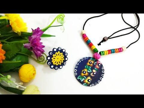 DIY Hand Painted Jewelry / DIY Jewelry / Hand-Painted Wood Jewelry
