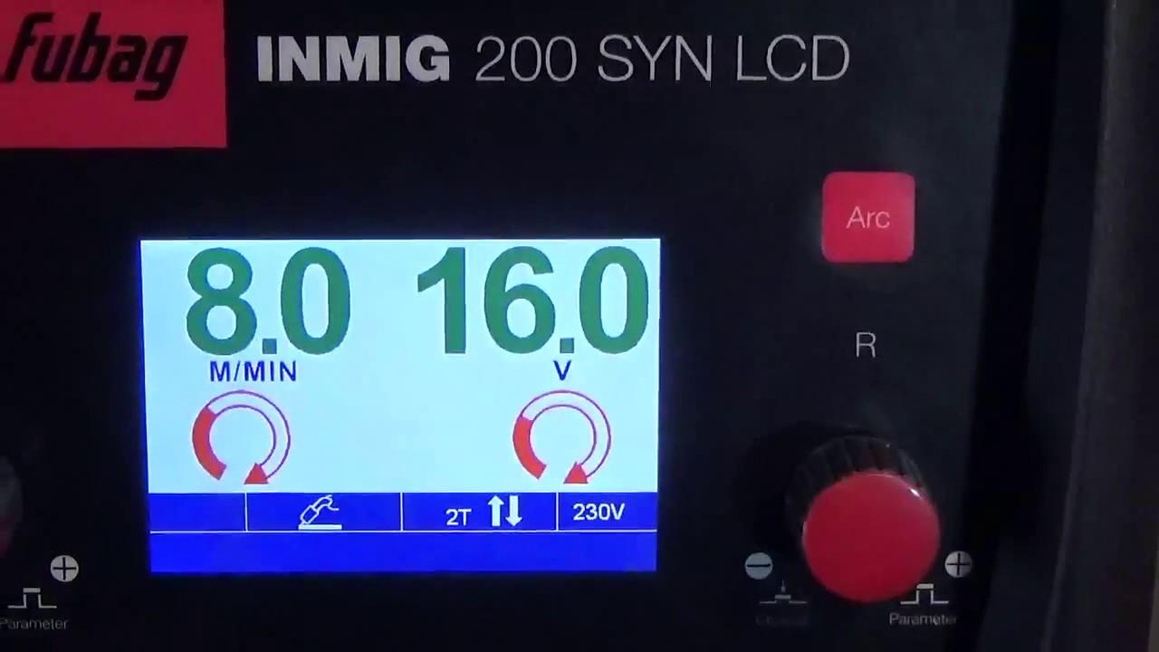 Сварка полуавтоматом  без газа. FUBAG INMIG 200 SYN LCD