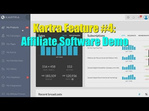 Kartra Affiliate Software Review Bonus - Feature 4 - Kartra Affiliate Software Demo