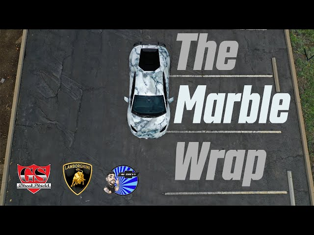 Marble Wrapped Lamborghini Huracan by Ghost Shield Film