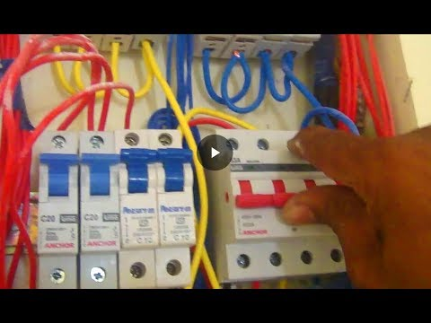 MCB Connection And Wiring In Urdu  Hindi House Wiring Main Board