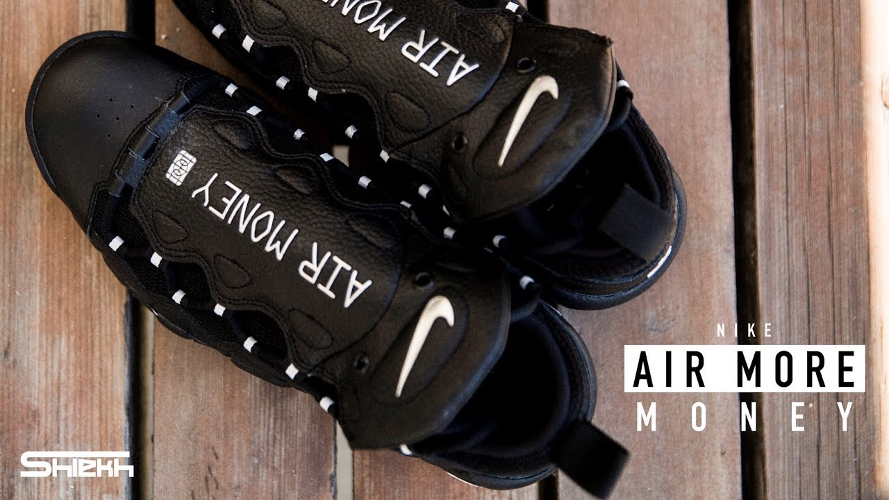 new product fb0d4 99620 FIRST LOOK  Nike Air More Money  Black Metallic Silver    SHIEKH