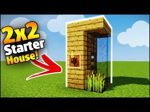 Minecraft 2x2 Starter House Tutorial