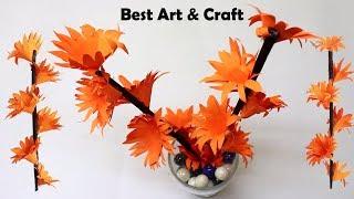 News Paper Craft Idea - DIY Desk Decoration Idea | Easy Paper Flower Making | Best Out Of Best