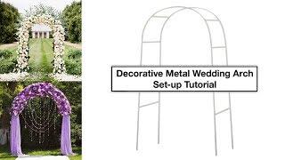 Decorative Metal Wedding Arch Tutorial   How To Setup   EFavorMart.com