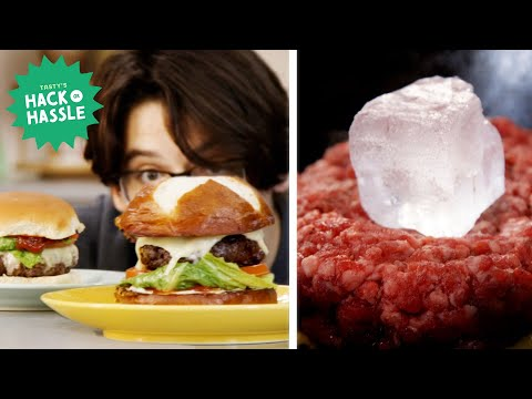 I Tried to Make a Burger Using 16 Hacks In A Row • Tasty