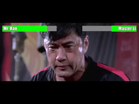 The Karate Kid (2010) - Mr. Han vs. Master Li [WITH HEALTH BARS]