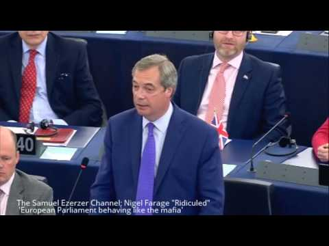Nigel Farage 'European Parliament behaving like the mafia' over BREXIT