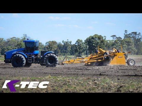 K-Tec 28' Wide Land Leveler Working in Australia