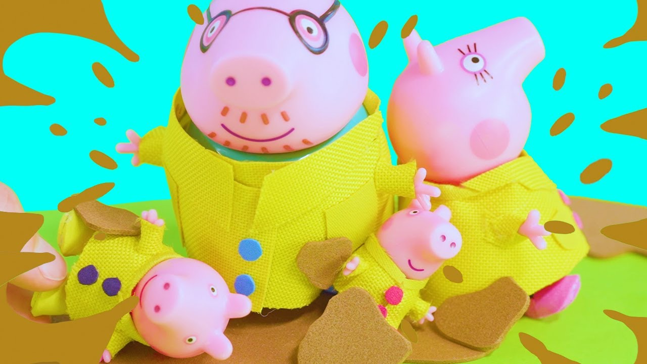Peppa Pig's Muddiest Day Ever!   Peppa Pig Stop Motion   Peppa Pig Toys   Toys fir Kids