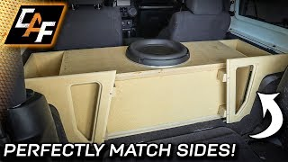 How to MATCH the sides! Custom Subwoofer Box Build