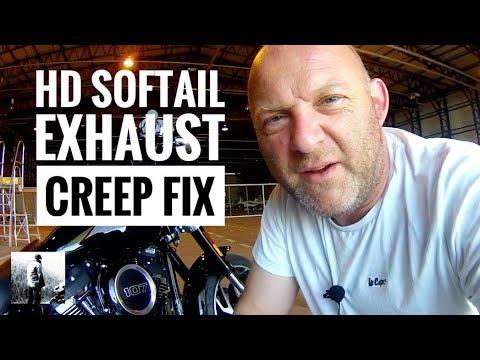 how to fix harley softail exhaust heat shield movement hd sport glide muffler heat shield creep fi