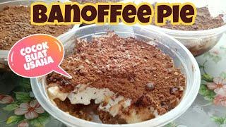 BANOFFEE PIE   BANANA TOFFEE DESSSERT   CARA MEMBUAT BANOFFEE   RESEP MBUK AL