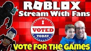 Roblox Live Stream con fans 🦅✔️ vote por los juegos