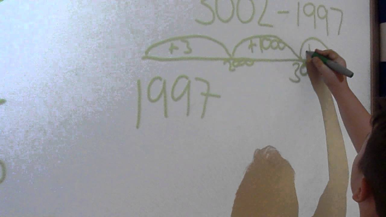 Line Drawing Ks2 : Subtraction number line method ks youtube