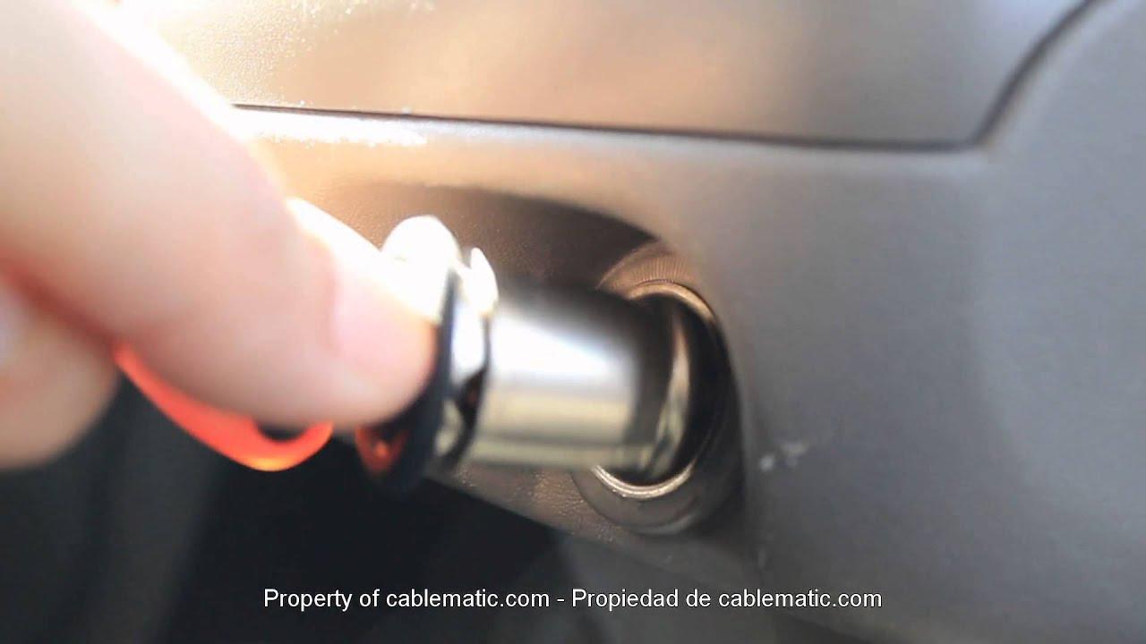 Fuente de alimentaci n para mechero de coche a usb a hembra 5vdc 1a 2 distribuido por cablematic - Instalar puerto usb en coche ...