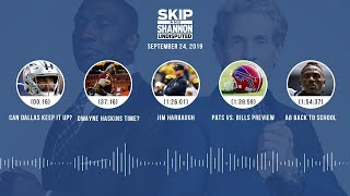 UNDISPUTED Audio Podcast (9.24.19) with Skip Bayless, Shannon Sharpe & Jenny Taft | UNDISPUTED