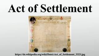 Act of Settlement