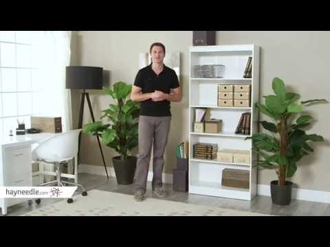 South Shore Axess Collection 5-Shelf Bookcase Pure White - Product Review Video