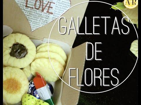 Galletas de flores pepitas ojos de buey ideas dulces - Flores para cocinar ...
