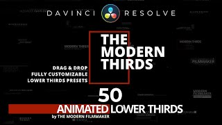Ultimate LOWER THIRDS Pack For DAVINCI RESOLVE