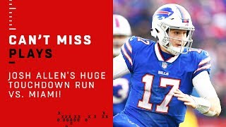 Josh Allen's HUGE Touchdown Run vs. Miami!