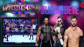 Seth Rollins vs The Miz vs Finn Balor Wrestlemania 34 Español Latino |WWE En Español Latino