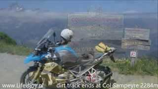 Motorbike Enduro Ski trails and mountain ridges: Risoul Parpaillon Orres Varaita Maira Stura