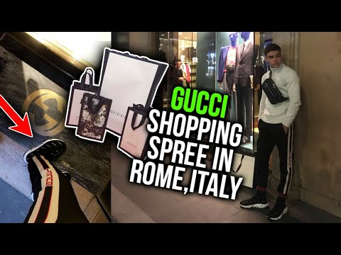 GUCCI SHOPPING SPREE IN ROME, ITALY