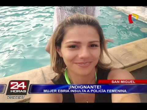 San Miguel: mujer ebria agrede a policía femenina (1/2)