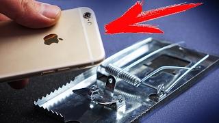 ЧТО ЕСЛИ iPhone 6s  КИНУТЬ В МЫШЕЛОВКУ ?!