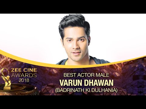 Varun Dhawan | Best Actor Male | Zee Cine Awards 2018