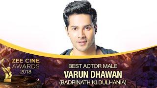 Varun Dhawan | Best Actor Male| Zee Cine Awards 2018