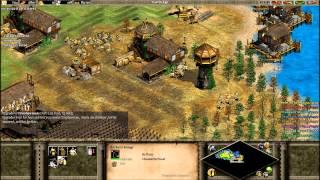 Age of Empires II: The Conquerors - 1v7 Standard AI CPU's (PART 1/4)