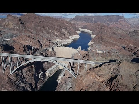 Hoover Dam & Lake Mead from helicopter on 08·Jan·2016