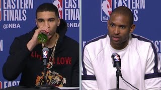 Jayson Tatum & Al Horford Postgame Interview - Game 7 | Cavaliers vs Celtics | 2018 NBA East Finals